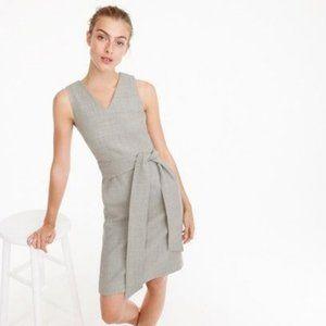 NWT J Crew Grey Wool Belted Sheath dress